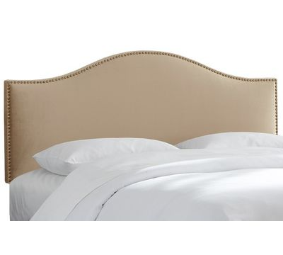 Stately Nail Button Premier Headboard in Oatmeal