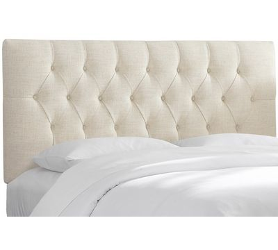 Imperial Tufted Linen Headboard in Talc