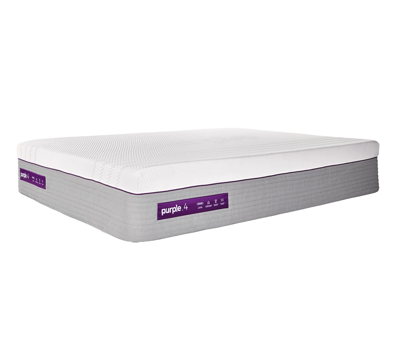 Sleep deeper than ever in the immersive comfort of science. This technological marvel lets you sleep in the lap of luxury with the softest, plushest comfort of the Purple® Bed and the total back support your body craves. The mattress features a top 4-inch layer of the unique patented Smart Comfort Grid™ that dynamically adapts to the human body and stays cool for superior, personalized comfort and better sleep. Additionally, Purple has added a new base layer comprised of individually wrapped responsive-support coils that further enhance the overall comfort, responsiveness, and durability of the mattress. Whatever your sleep position-back, side, stomach, upside down-with the Purple .4 mattress you'll wake up with all the energy you need to make your wildest dreams come true, but you'll be so comfy you may never want to leave your bed again.