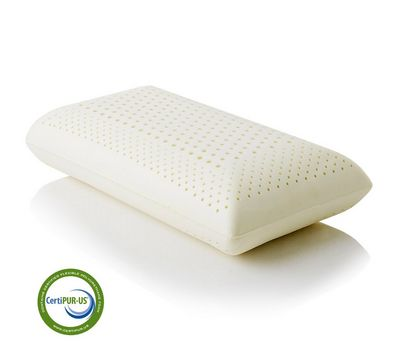 "Zoned Dough Memory Foam 4.5"" Low Loft Plush Pillow"