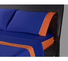 Limited Edition! bedgear Mets-Inspired Blue and Orange Dri-Tec Sheets
