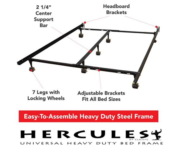 universal heavy duty adjustable metal bed frame - Heavy Duty Bed Frame Queen