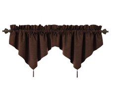 Sound Asleep Room-Darkening Rod Pocket Ascot Window Valance