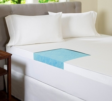 Gel Memory Foam 4 Inch Flat Mattress Topper with 300 TC Cotton Cover