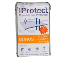iProtect Plush Touch Waterproof Mattress Protector and 2 Bonus Pillow Protectors
