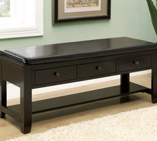 Monarch 3 Drawer Bench