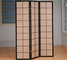 Monarch 3 Panel Folding Screen W/ Fabric Inlay