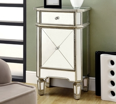 Monarch Mirrored 1 Drawer Accent Table