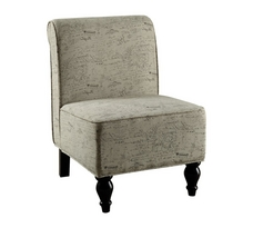 Monarch Vintage French Fabric Traditional Accent Chair
