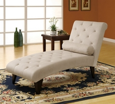 Monarch Microfiber Chaise Lounger