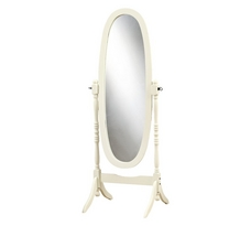 Monarch Solid Wood Oval Cheval Mirror
