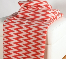Rizzy Home Chevron Woven Cotton Throw