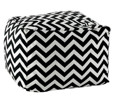 Rizzy Home Vicki Payne Chevron Cotton Canvas Pouf