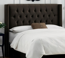 Diamond Tufted Wingback Headboard