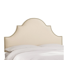 Nail Button High Arch Notched Headboard