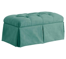 Skirted Storage Bench