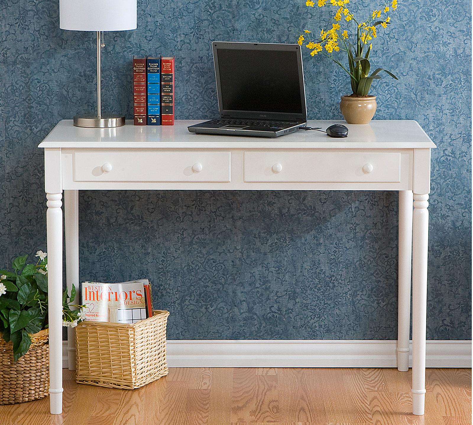 Amazing photo of Crisp 2 Drawer Writing Desk SN2DRA Sleepy's with #704328 color and 1600x1438 pixels