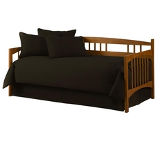 Solid Black 5pc Daybed Set