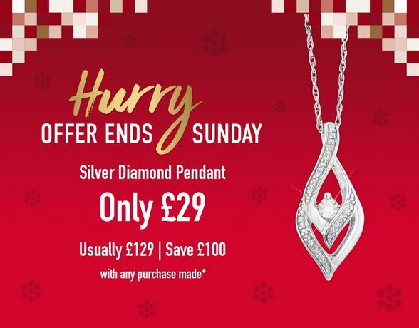 Silver Diamond Pendant - Shop Now