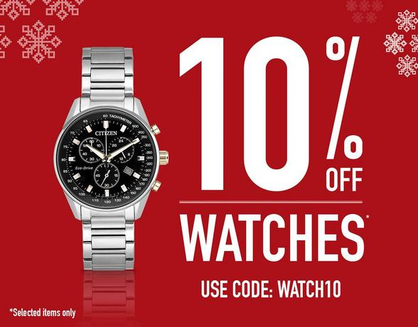 10% Off Watches - Shop Now