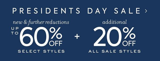 Presidents Day Sale