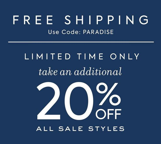 20% OFF ALL SALE STYLES