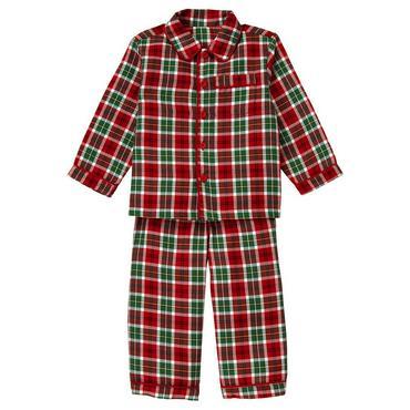 Winter Green Plaid Plaid Pajama Set at JanieandJack