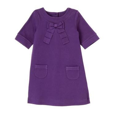 True Purple Bow Appliqué Dress at JanieandJack