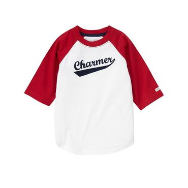 Pure White Charmer Baseball Tee at JanieandJack