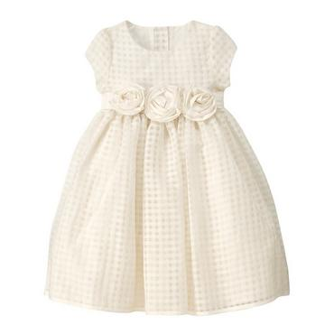 Jet Ivory Rosette Lattice Dress at JanieandJack