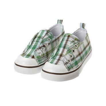 Spring Green Plaid Plaid Laceless Sneaker at JanieandJack