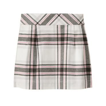 Royal Pink Plaid Plaid Twill Skirt at JanieandJack
