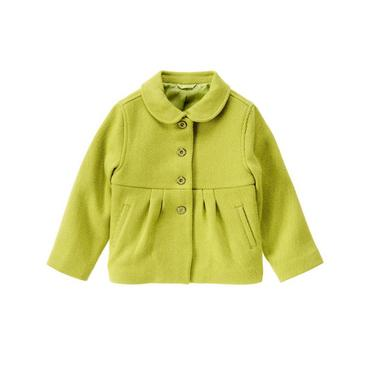 City Green Textured Button Coat at JanieandJack