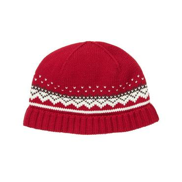 Boys Reindeer Red Fair Isle Hat at JanieandJack