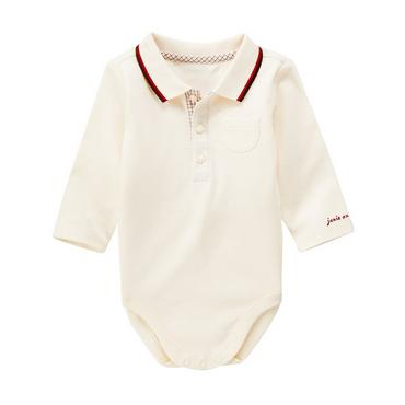 Double Cream Tipped Polo Bodysuit at JanieandJack
