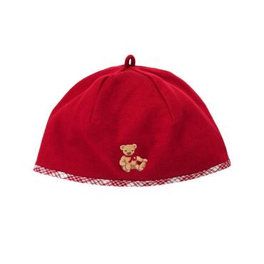 Holiday Red Teddy Bear Beanie at JanieandJack