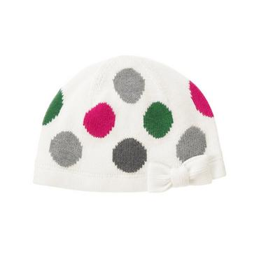 Bright Pink Dot Polka Dot Sweater Hat at JanieandJack
