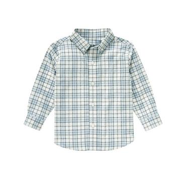 Cashmere Blue Check Plaid Dress Shirt at JanieandJack