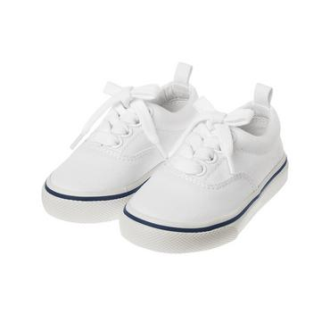 Pure White Canvas Sneaker at JanieandJack