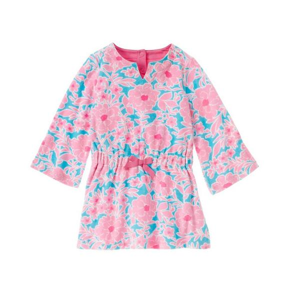 Floral Terry Swim Cover-Up