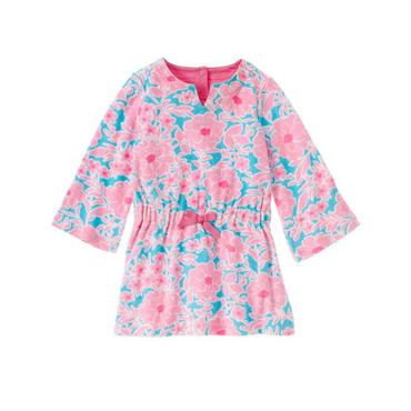 Azalea Pink Floral Floral Terry Swim Cover-Up at JanieandJack