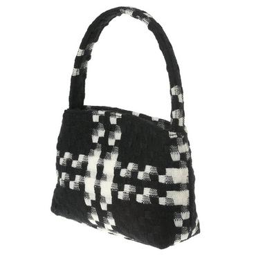 Black Plaid Tweed Plaid Purse at JanieandJack