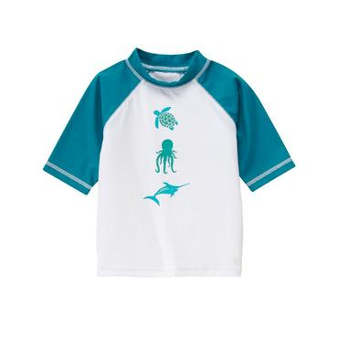 Bright Aqua Blue Sea Creatures Rash Guard at JanieandJack