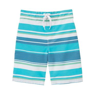 Marlin Blue Stripe Stripe Swim Trunk at JanieandJack