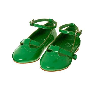 Clover Green Patent Leather Shoe at JanieandJack