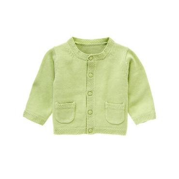 Baby Boy Pale Green Classic Cardigan at JanieandJack