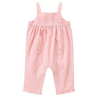 Marshmallow Pink Pintucked Dobby Overall at JanieandJack