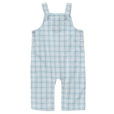 Signature Blue Plaid Plaid Dobby Overall at JanieandJack