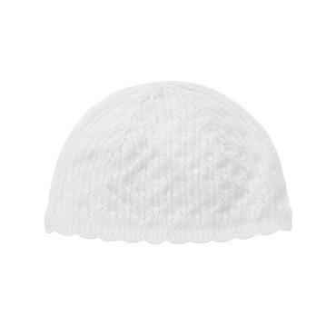 Pure White Pointelle Sweater Hat at JanieandJack