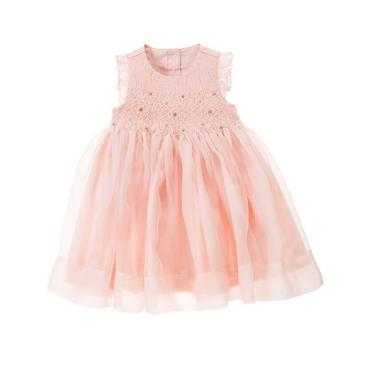 Rosebud Pink Hand-Smocked Rosebud Silk Dress at JanieandJack